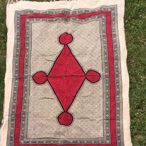 Boho Geometric Tan Tapestry Twin Size